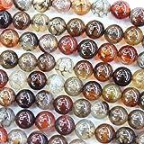 #6: Natural Dragon Vein Agate Round Jewerlry Making Gemstone Beads (8mm)