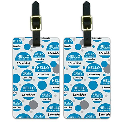 luggage-suitcase-carry-on-id-tags-set-of-2-hello-my-name-is-la-le-leonidas-hello-my-name-is