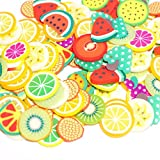 SALE! 50PCS DIY 3D Slime Slice Face Decoration, GreatestPAK Colorful Clay Decorative For Homemade Slime Making Craft Assorted Pattern Slime Arts Craft Supplies Wedding & Party Decoration (Fruit)