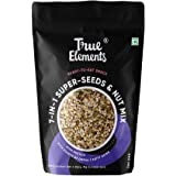 True Elements 7 in 1 Super Seeds & Nut Mix 500g - Pumpkin, Watermelon, Sunflower, Flax, Soyanuts, White Sesame & Chia Seeds,
