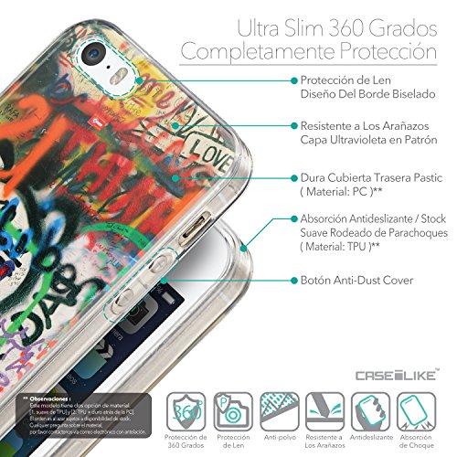 CASEiLIKE Comic Beschriftung Rosa 2912 Ultra Slim Back Hart Plastik Stoßstange Hülle Cover for Apple iPhone SE +Folie Displayschutzfolie +Eingabestift Touchstift (Zufällige Farbe) 2721