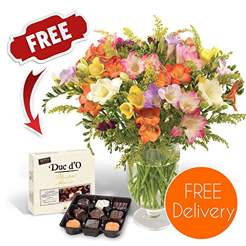 fresh-flowers-delivered-free-uk-delivery-30-mixed-freesias-bouquet-with-free-chocolates-flower-food-