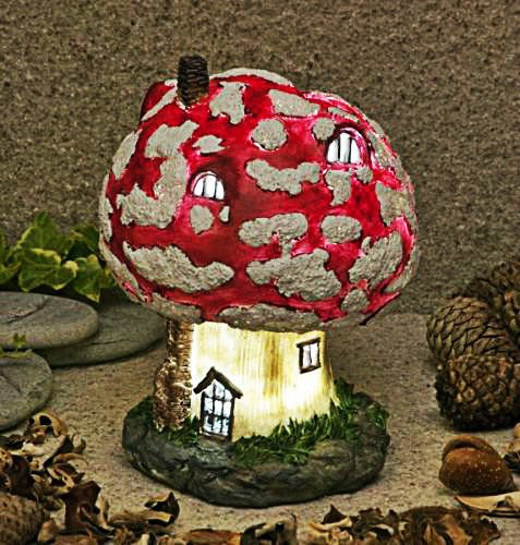 Garden-Mile-Solar-Light-Up-Fairy-House-Outdoor-Garden-Solar-Lights-Toadstool-Garden-Gnome-Fairy-Garden-Tree-House-With-LED-Lights-Enchanting-Home-Or-Garden-Ornaments