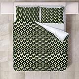 Jior Home Art Bettwäsche Set Bettbezug Und 2 Kopfkissenbezug Atmungsaktiv,Anti Milben,Geeignet Für Allergische Haut,Ideal Für Kinder Jugendliche Schlafzimmer UFO,155x220cm
