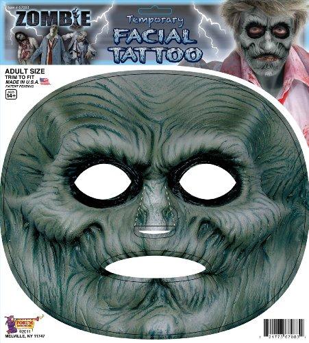 Tattoo for adults Halloween size of Zombie Facial Tattoo Adult zombie face: One-Size (japan (Halloween Großhandel Kostüme)