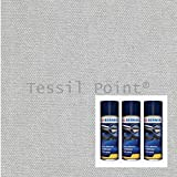 Tessil Point Kit revêtement Tissu Ciel Voiture Type Audi/VW + Colle Spray Transparent 2,50x1,80mt+3 Spray Gris Clair (ral 7035)