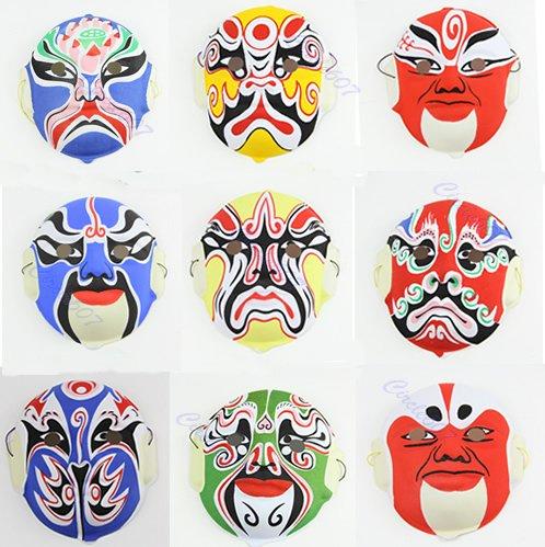 ndwerk Chinesische Kunst Kultur Peking Oper Stil Masken Papiermasse Zufällige Farbe 1 Stück ()