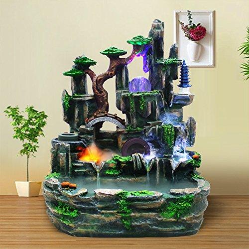 X&L Fontaines d'eau rocaille décorations pour la maison à l'intérieur des cadeaux fluides se déplacent humidificateur (50 * 35 * 70cm) , 50*35*70cm