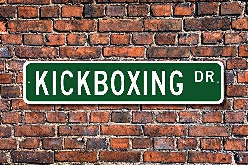 Aersing Funny Metall Schilder Kickboxen Schild Fan Kickboxen Teilnehmer Geschenk International Sport Garage Home Yard Zaun Auffahrt Street Decor