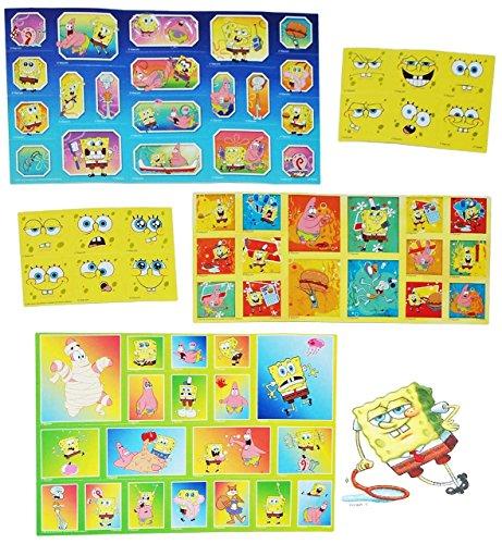 Unbekannt Set 67 STK. Sticker / Aufkleber - Spongebob Schwammkopf - selbstklebend Stickerbox - Patrick Star Thaddäus Fisch Mädchen / Jungen Stickerset Kinder z.B. für S.. (Spongebob Thaddäus)