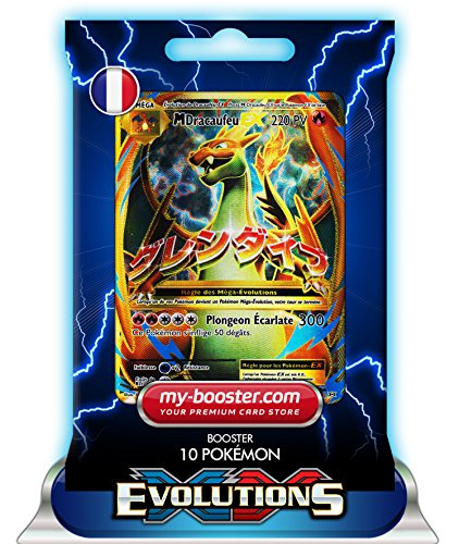 MEGA DRACAUFEU EX FULL ART 101/108 220PV XY12 EVOLUTIONS - Booster de 10 cartes Pokemon francaises my-booster