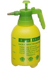 Crown Pressurized Sprayer Bottle - One-Hand Pressure Sprayer- Ergonomic Grip for Gardening, Fertilizing, Cleaning & General Use Spraying (Assorted)(2 lit)