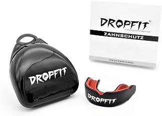 DROPFIT Zahnschutz mit hygienischer Aufbewahrungsbox anpassbarer Mundschutz für Erwachsene - für Boxen, MMA, American Football & Hockey