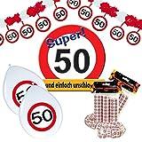 Preis am Stiel Geburtstagsdeko-Set 50