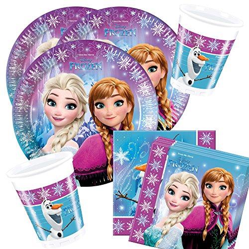 t Disney Frozen Northern Lights - Teller Becher Servietten für 8 Kinder ()