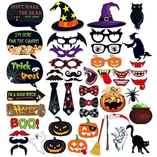 Dimoxii Foto Booth, Foto Requisiten Set für Halloween, Hochzeit, Geburtstag, Abschlussfeier Oder Jede Andere Party Dekoration (Halloween)