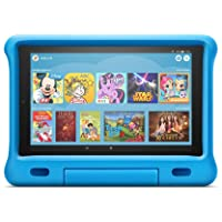 Fire HD 10 Kids Edition-Tablet | 10,1 Zoll, 1080p Full HD-Display, 32 GB, blaue kindgerechte Hülle