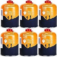 Yellowstone GA011 6 x Schraubkartusche Ventil Gas Kartusche Kocher Butan Propan 450 g