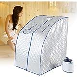ZJchao Steam Sauna Portable Pot, Sauna Cabin Sauna Bath Box Slimming Body Face, 2L Spa Steamer Sauna Tent for Living…