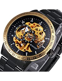 Binlun Army Watches For Men Vintage Tungsten Sports Watches For Men Waterproof Black Dial Luminous