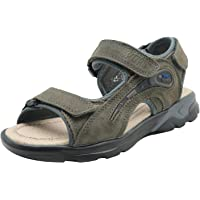 Apakowa Junior Boys Soft Genuine Leather Touch Fastening Beach Sandals Kids Summer Open Toe 3 Straps Sports Sandals…