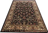 #4: ZIA CARPETS HIGH QUALITY PERSIAN FLORAL CARPET WITH 0.5 INCH PILE HIGHT 5x7 feet(150x210CM.) COLOR BLACK