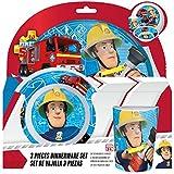 Sam el bombero Chicos Set desayuno, 3 piezas - Blanco