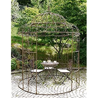 XXL Pavillon Avis rund D 212 cm rostoptik Gartenpavillon Laube Gartenlaube