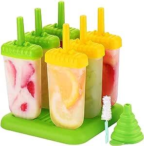 6 Eisformen Popsicle Formen Set Eis Pop Macher Eis am Stiel Form Stieleisform