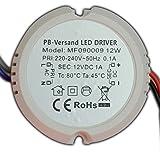 12W LED transformator 12V DC 0,5-12 Watt RONDE voeding driver G4 GU4 MR16 MR11 transformator