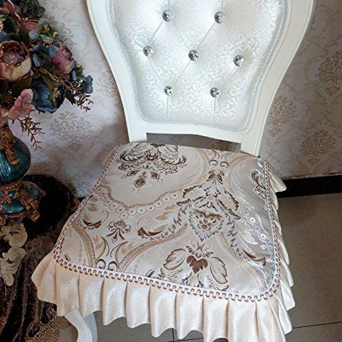 Lusso stile europeo da pranzo sedia cuscino stagione universale antiscivolo sgabello rivestimento in tessuto sfoderabile e lavabile-d 45x45cm(18x18inch)