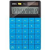 deli W1589 Modern Compact Calculator 12 Digit, Blue