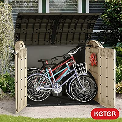 Keter Woodland Ultra XL 3.7 x 5.8ft (1.1 x 1.7m) Store It Out Horizontal Storage Shed - inexpensive UK light shop.