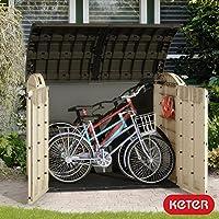 Keter Woodland - Cobertizo horizontal (Ultra XL, 1,1 x 1,7 m)