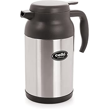 Cello Armour Stainless Steel Flask, 1.6 Litres, Grey