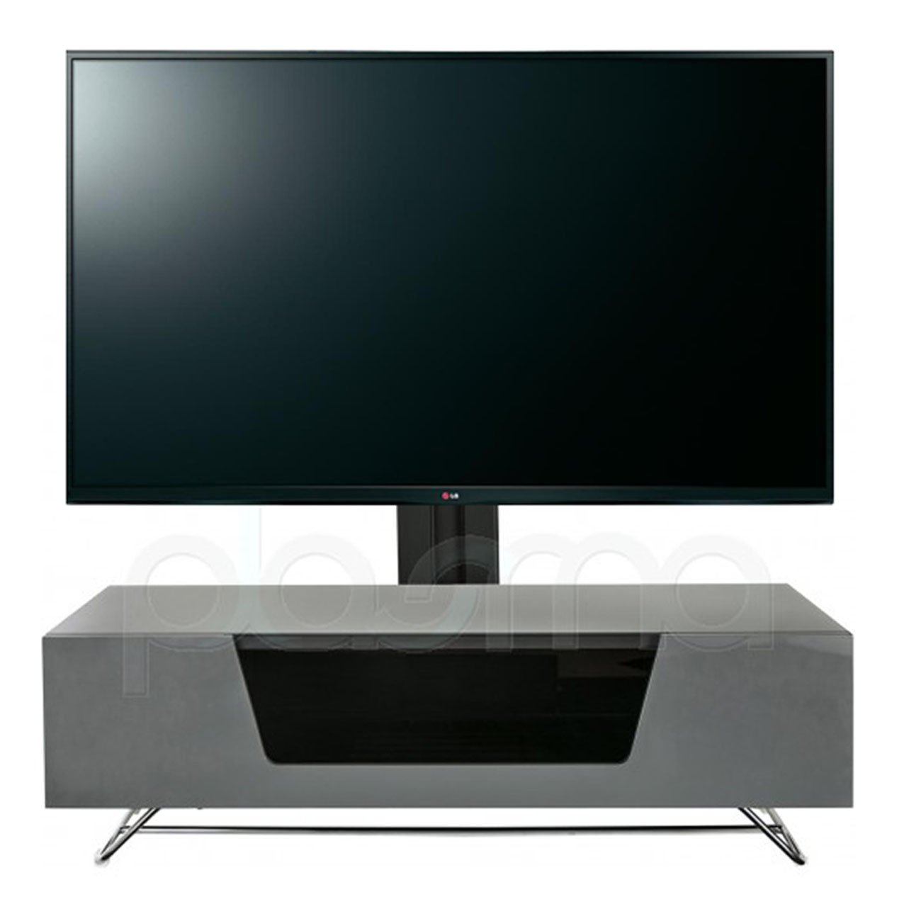 Alphason Chromium 2 1200 Cantilever Noir Meuble Tv Avec Support  # Meuble Tv Alphason