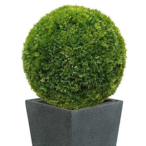 40 cm Ø künstliche Thuja - Buchsbaumkugel, sehr natürlich wirkend