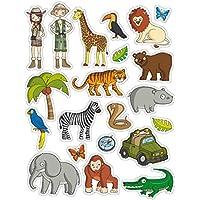 APLI Kids - Bolsa de gomets selva, 3 hojas adhesivo removible