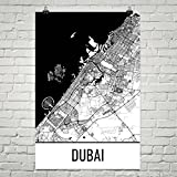 Modern Map Art Dubai Karte, Dubai Kunst, Dubai Print, Dubai Uae Plakat, Dubai Geschenke 12