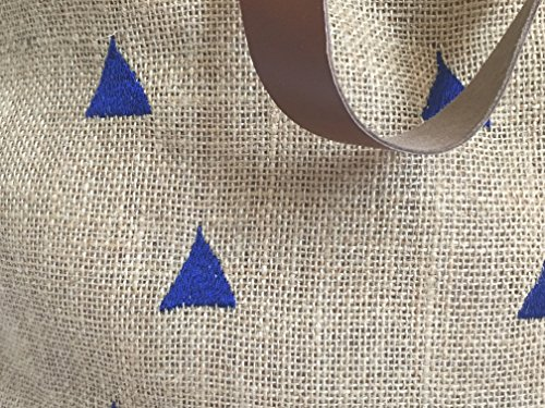 The White Petals Borsa da spiaggia, Triangles Dark Blue (blu) - Triangle Emb Bags Dark Blue MPN Triangles Dark Blue