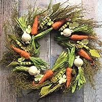 Bellissime verdure primaverili colorate su una ghirlanda di ramoscelli. Il suo favoloso design rustico ti renderà l'invidia dei tuoi amici e familiari. Una decorazione di Pasqua davvero incredibile. Ottimo regalo per un giardiniere o custode ...