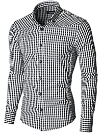 MODERNO - Slim Fit Kariert Herrenhemd (MOD1458LS)