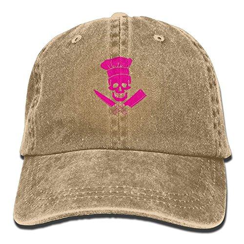 Skull Chef Denim Hat Adjustable Unisex Mini Baseball Hats Sox-logo Mini