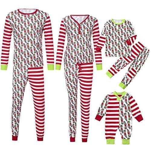 Pyjamas Outfit Schlafanzug Nachtwäsche Damen Herren Baby Säugling Family Kleidung Zuhause Matching Set Xmas, Passende Frauen Kid Papa Erwachsene PJs Fun (Dad,Medium) ()