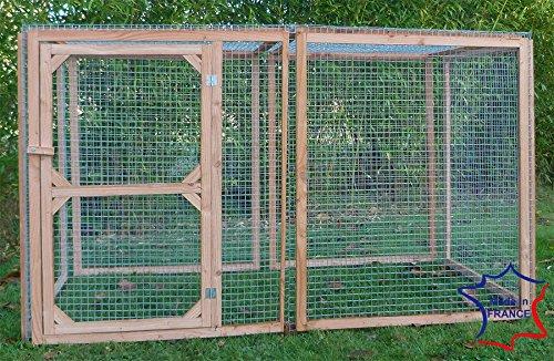 Enclos poule anti-prédateurs hauteur 180 cm made in france Taille 2 mètres