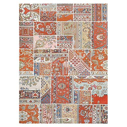 GJIF Nordic Plant Flower Carpet Rechteckiger Rutschfester waschbarer Teppich Geeignet für Wohnzimmer Schlafzimmer - 1 cm (Farbe : Color#1, größe : 120X180cm)