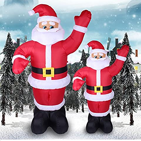 Ondeggiamento decorazione di Babbo Natale benvenuto vecchio Natale gonfiabile decorazioni di Natale,Piccolo 1,8 M