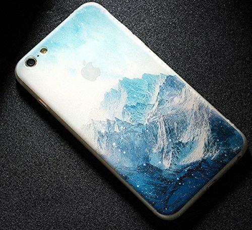 LaiXin Coque Paysage iPhone 6/6s Bumper Case Silicone en Souple Doux TPU + PC 2 in 1 Hybride Plastique Ultra-Slim Premium Anti-Rayures Anti Poussière Housse de Protection avec Motif Imprimé - Forêt Br A11