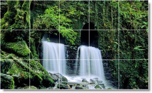 CASCADAS FOTO MURAL AZULEJOS MURAL W013  36X 60CM CON (15) 12X 12AZULEJOS DE CERAMICA