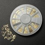 TENGGO 3D Nail Art Gold Metal DIY Aufkleber Design Wheel